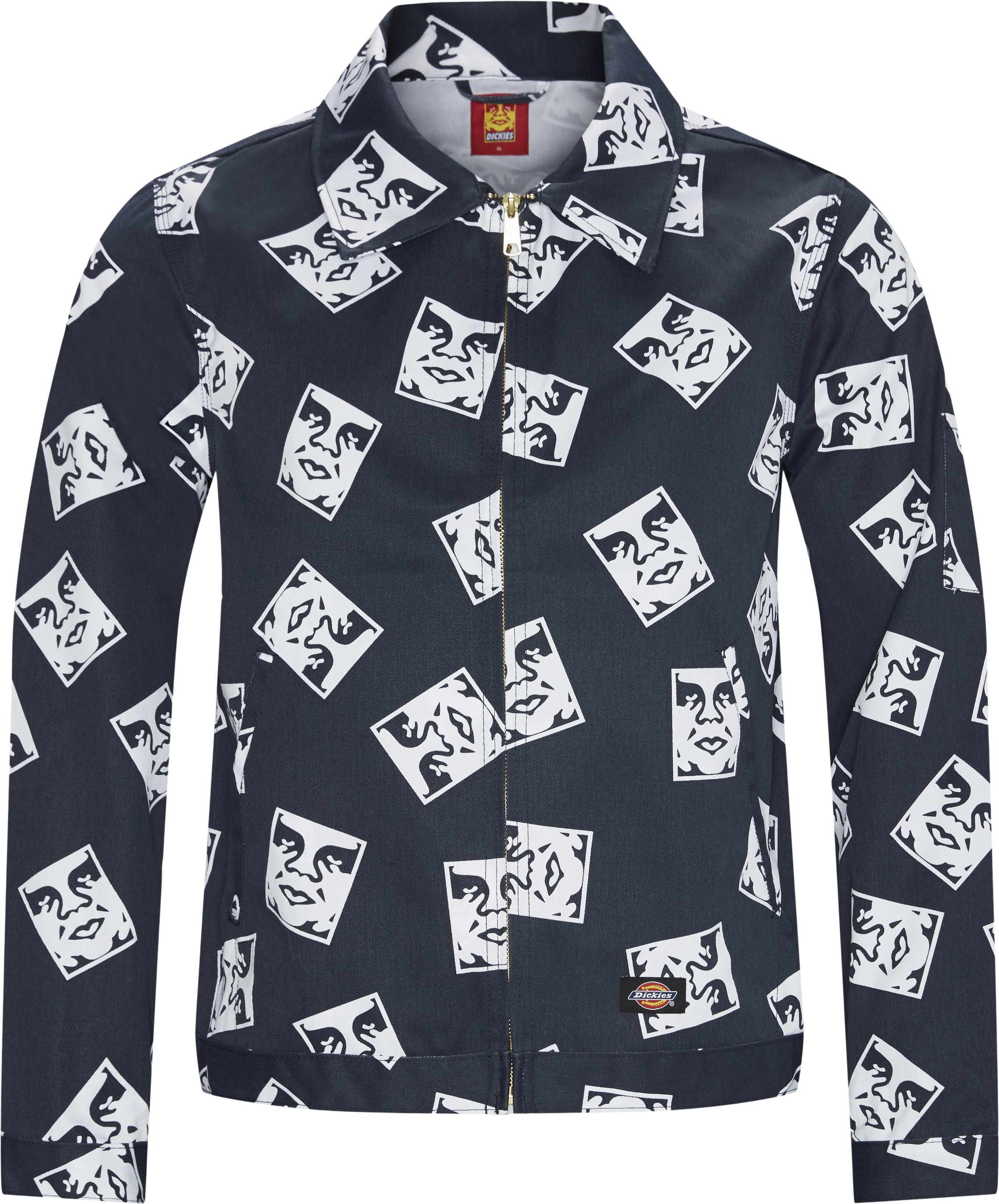 OBY2 Undlined Eisenhower Jacket - Jakker - Regular - Blå